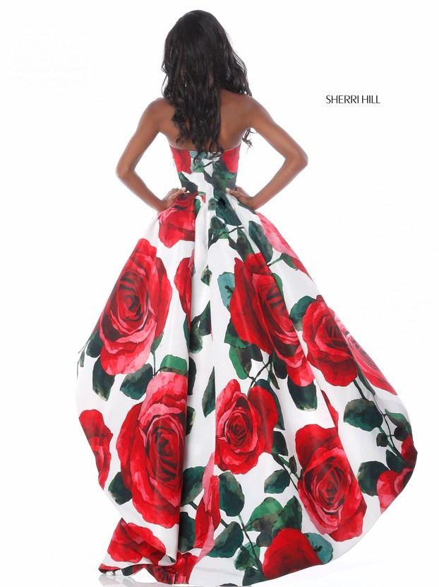 vestidos de graduacion con estampados florales 2018