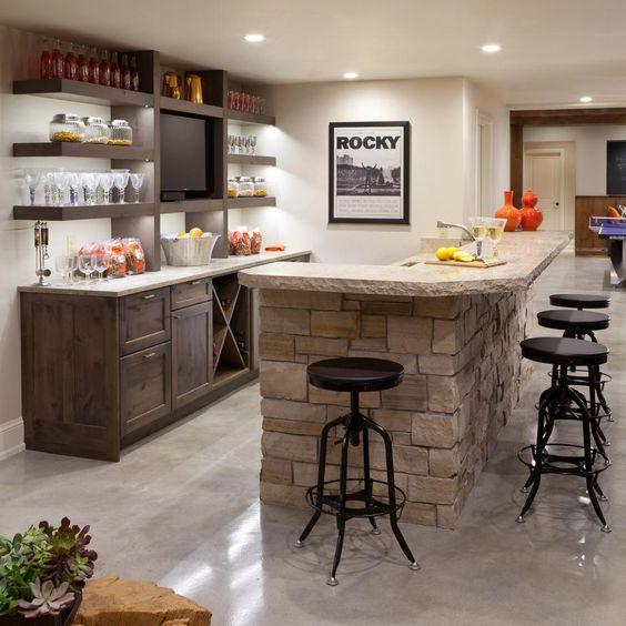 Cocinas con islas de piedra