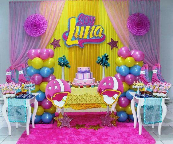 563c1bc90 Decoracion de fiesta para niña de 5 años