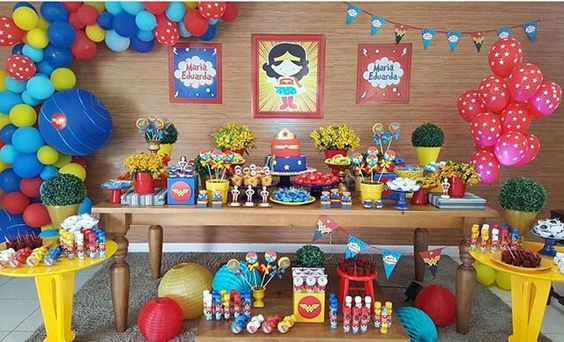 Decoracion de fiesta para niña de 5 años