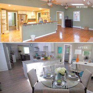antes y despues de la remodelacion de una casa