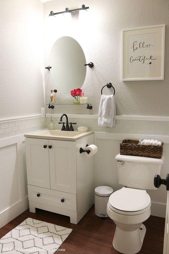 Ba os de casas peque as curso de organizacion del hogar Repisas pequenas para bano