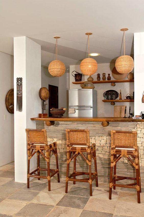 cocinas con islas rusticas