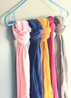 como organizar bufandas