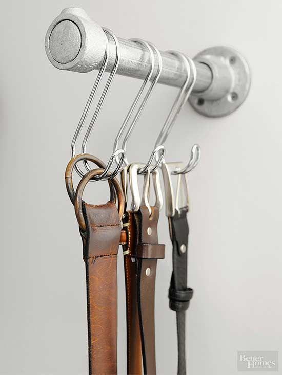 como organizar cinturones