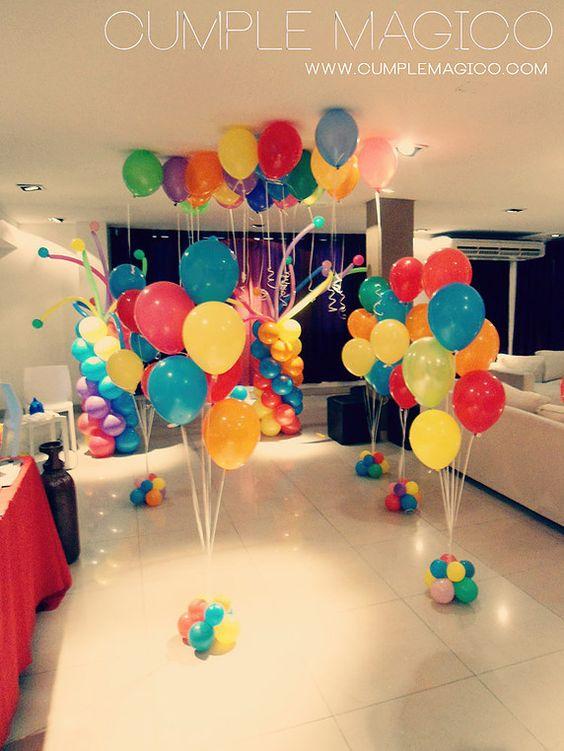 Decoracion dia del niño con globos