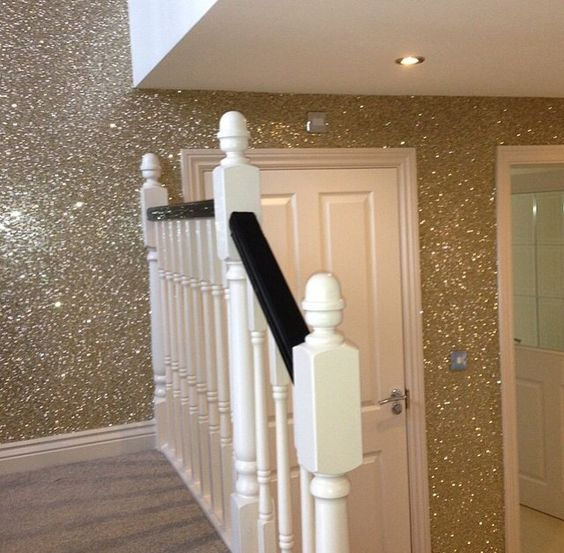 ideas para decorar espacios con pintura escarchada