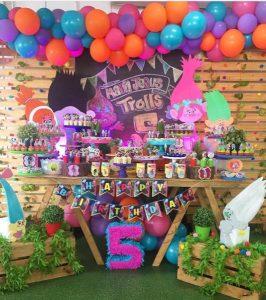 mesas principales par fiestas de 5 años niña