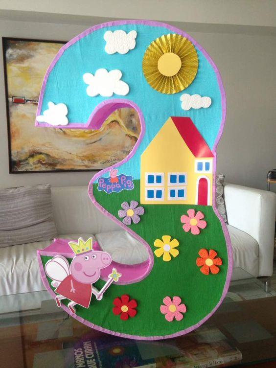 piñata para fiesta de niña 3 años