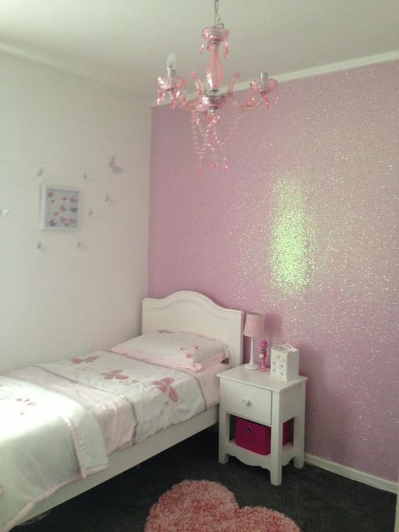 Paredes con colores brillantes pintura con glitter para - Pintura para pared lavable ...