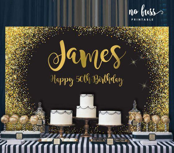 Decoracion de cumpleaños para hombres de 50 años