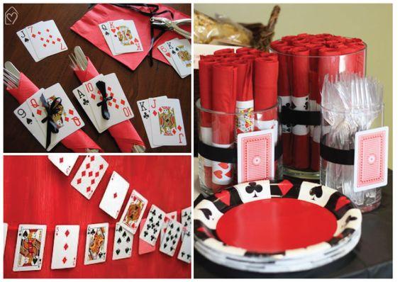 Fiesta con tema de noche de poker