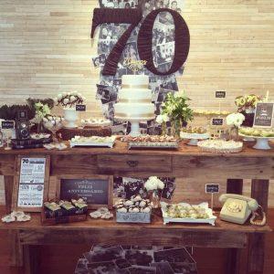 Fiesta de cumpleaños para hombres de 70 años