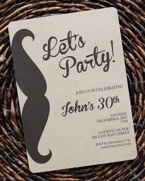 Invitaciones para fiesta de cumpleaños para hombre3