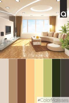 Colores para interiores lo nuevo para pintar tu casa - Paleta de colores para paredes ...