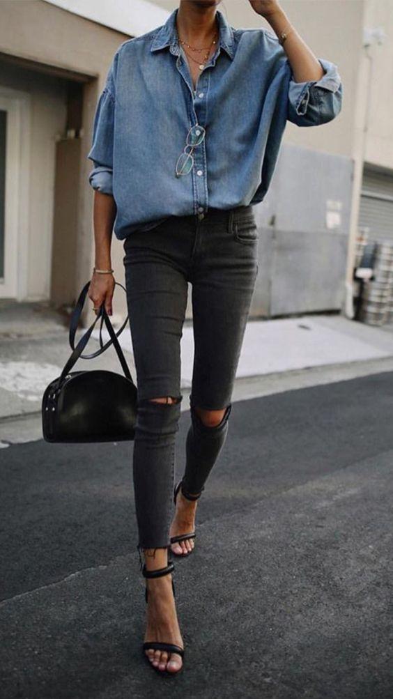 Pantalones pitillos para mujeres bajitas