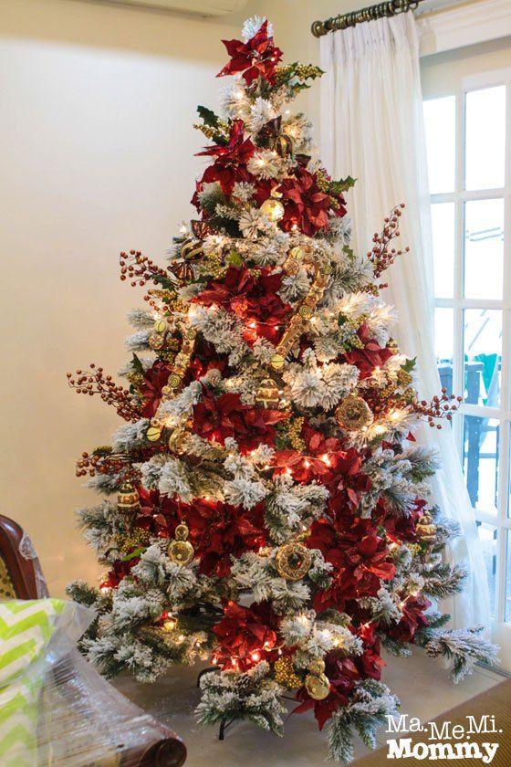 Arboles de navidad color rojo tendencias 2019 2020 - Arboles de navidad blanco ...