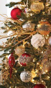 arboles de navidad en color rojo