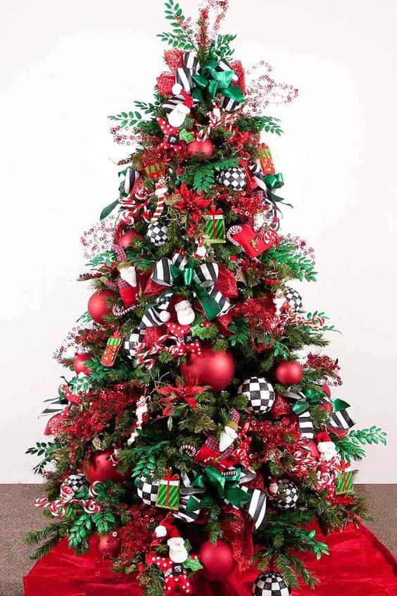 arboles de navidad color rojo 2018 2019