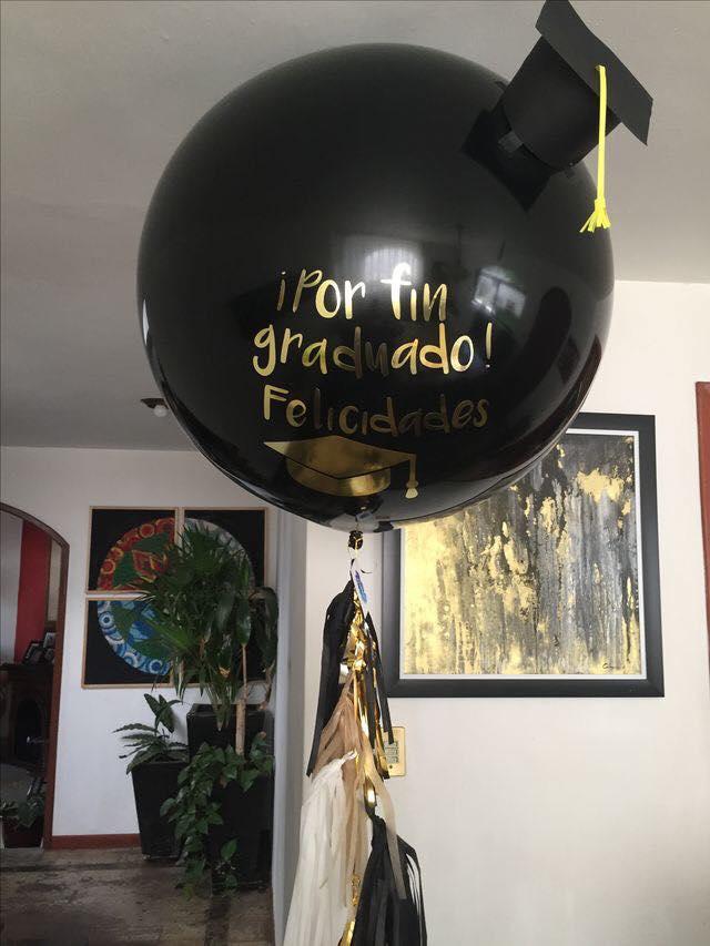 Arreglos para graduación con globos