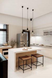 bancos de cocina metalicos y de madera