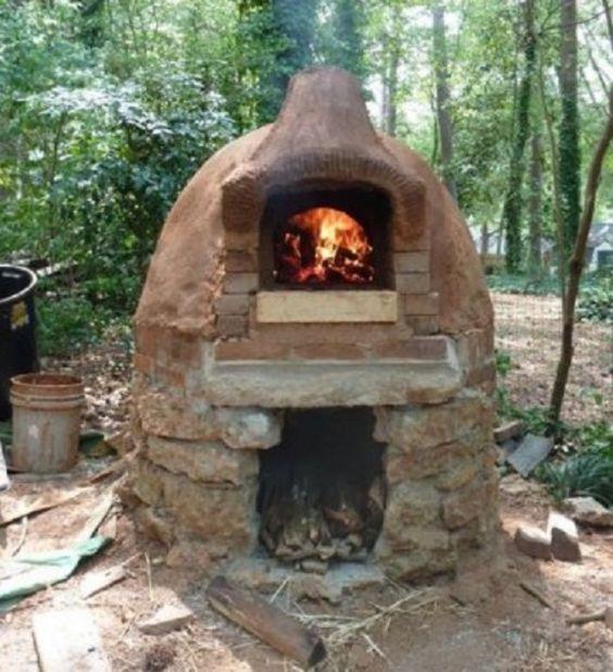 horno de barbacoa de tierra