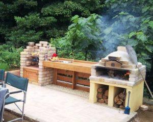 horno de leña para barbacoa