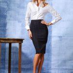 look con falda para oficinas