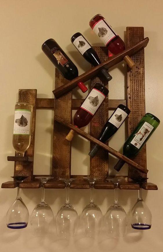 muebles rusticos de madera para bar en casa