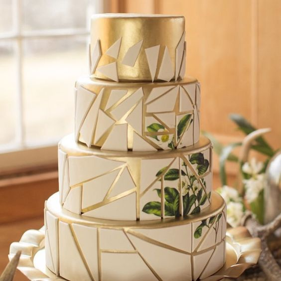 pastel de quince de tres pisos