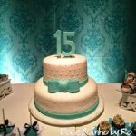pastel para quinceañera de dos pisos