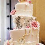 pastel para quinceañera de tres pisos