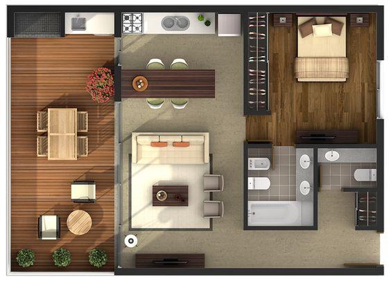 Casas de una recamara dise os planos fachadas y m s for Planos casas pequenas modernas