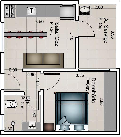 Casas de una recamara dise os planos fachadas y m s for Planos de casas con medidas