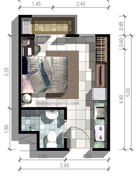 Casas de una recamara dise os planos fachadas y m s for Casas con planos y fotos