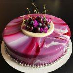 tarta espejo para quinceañera