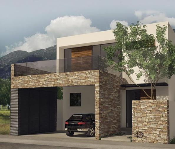 Fachadas con piedra laja ideas geniales con laja para tu for Piedras para fachadas minimalistas