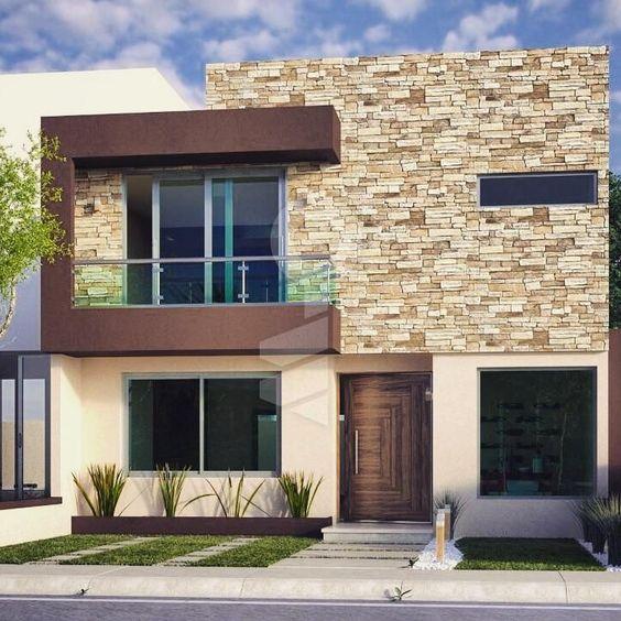 Fachadas con piedra laja ideas geniales con laja para tu for Fachadas de casas modernas con piedra