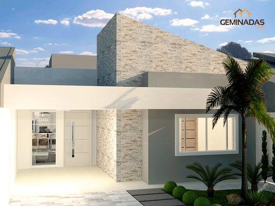 Fachadas con piedra laja ideas geniales con laja para tu for Fachadas minimalistas de casas pequenas