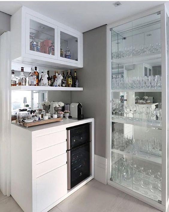 Ideas para diseño de bar en casa moderno