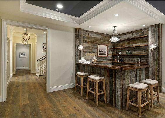 Ideas para dise o de bar en casa dise os modernos 2018 for Disenos de bares rusticos para casas