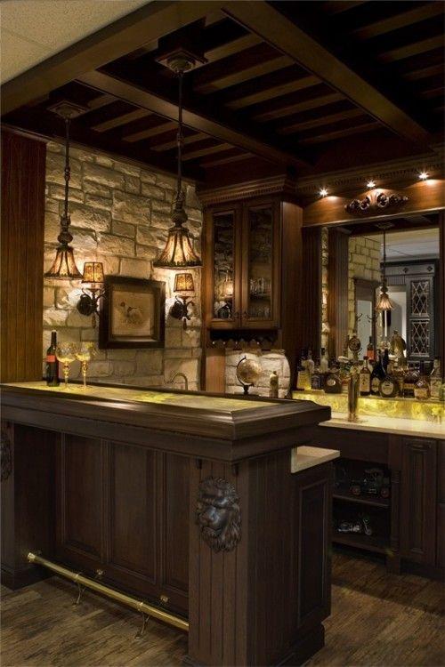 Ideas para diseño de bar en casa rústico