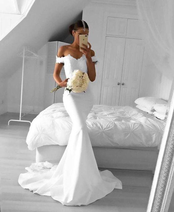 Vestidos de novia largos para una boda civil