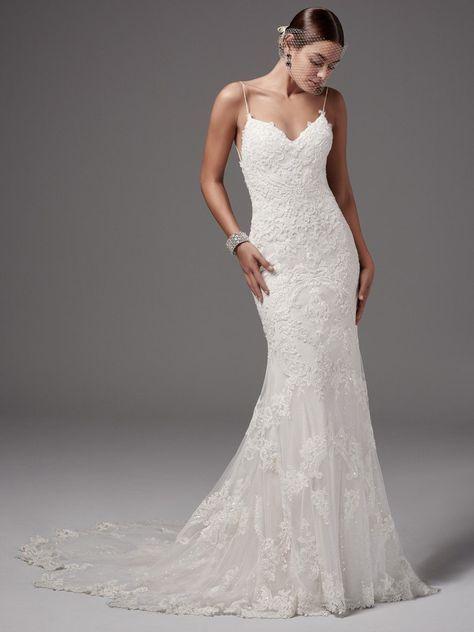 Vestido de novia largo para matrimonio civil