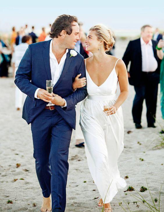 Vestidos de novia para boda civil en playa