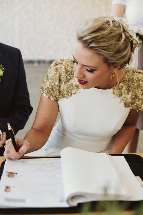 Vestidos de novia para una boda civil 2018