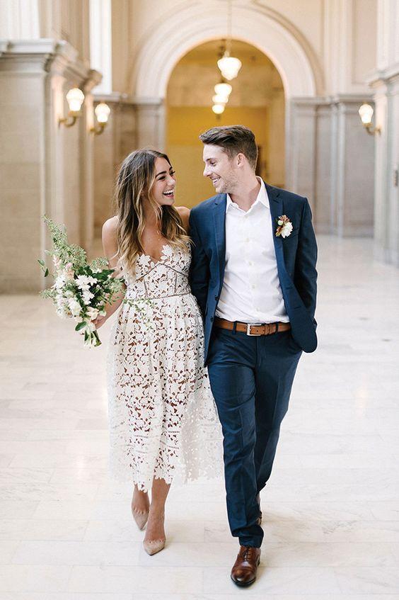 Vestidos para boda civil de día