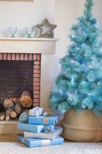 arboles de navidad azules