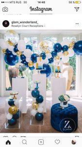 Bouquet de globos para baby showers