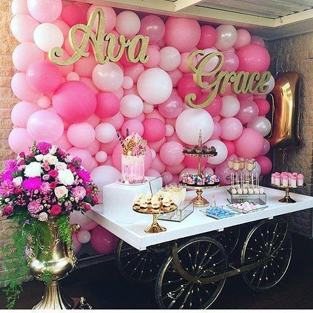 Bouquet de globos para bautizos